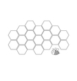 Honeycomb set Beehive element Honey icon Bee vector image