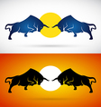 image of an bull fight vector image vector image