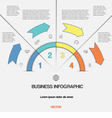 Infographic for success business project template vector image