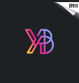 initial yb logo monogram design template simple vector image vector image