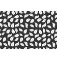 leaves pattern handdrawn graphic white shapes on vector image