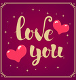 Love You phrase vector image