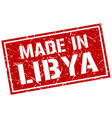 made in libya stamp vector image vector image