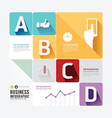 Modern Design Minimal style infographic templateca vector image vector image