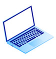 modern laptop icon isometric style vector image vector image