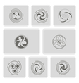 monochrome icons with celtic geometric ornament vector image vector image
