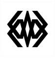 mw wm wam initials letter company logo vector image vector image