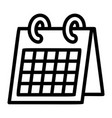 office calendar icon outline style vector image