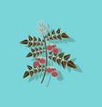 paper sticker on stylish background tomato plant vector image