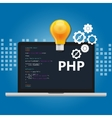PHP programming language syntax for web coding vector image vector image