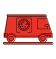 pizza delivery truck icon image vector image vector image