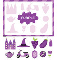 purple color cut elements and match them vector image vector image