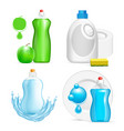 realistic dishwashing liquid product icon vector image vector image