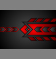 red and black abstract technology background with vector image vector image