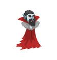 reepy count dracula vampire cartoon character vector image vector image