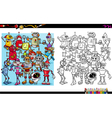robot characters coloring book vector image vector image