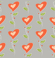 romantic love seamless pattern colorful flowers vector image
