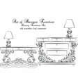 Royal Baroque Classic furniture table vector image vector image