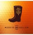Rubber Boots Autumn Abstract Background vector image vector image