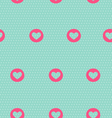 Seamless pattern with heart on light blue vector image vector image