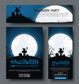 set posters flyers and banners for halloween vector image