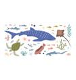 set sea and ocean habitats bundle marine vector image
