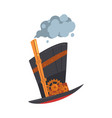 steampunk top hat with mechanical engineering vector image