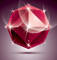 stylish shiny ruby effect eps10 Celebrati vector image vector image