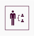 team icon simple sign business vector image vector image