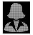 white halftone office lady icon vector image vector image
