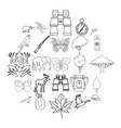 wild territory icons set outline style vector image vector image