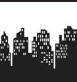 windows on city skylines in black and white vector image vector image