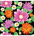 seamless pattern with bouqet of flowers vector image