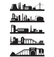 Various industrial plants vector image