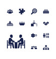 13 teamwork icons vector image vector image