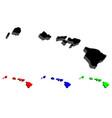 3d map of hawaii vector image vector image