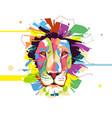 abstract artistic lion cartoon design vector image vector image