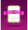 banner with ribbon vector image vector image