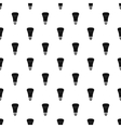Black lamp pattern simple style vector image vector image