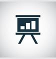 board diagram icon simple flat element design vector image