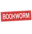 bookworm grunge rubber stamp vector image