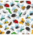 Bugs and insects funny cartoon wallpaper vector image vector image