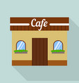 cafe street shop icon flat style vector image vector image