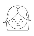 cartoon woman face icon vector image
