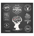 Christmas Badges and Labels in Vintage Style vector image vector image