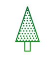 christmas tree pine natural decoration celebration vector image vector image
