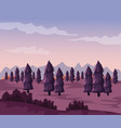 colorful background with dawn landscape of valley vector image vector image