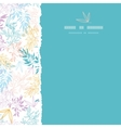 Colorful pastel branches square torn seamless vector image
