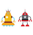 couple robots vector image vector image