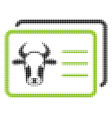 cow account cards halftone icon vector image